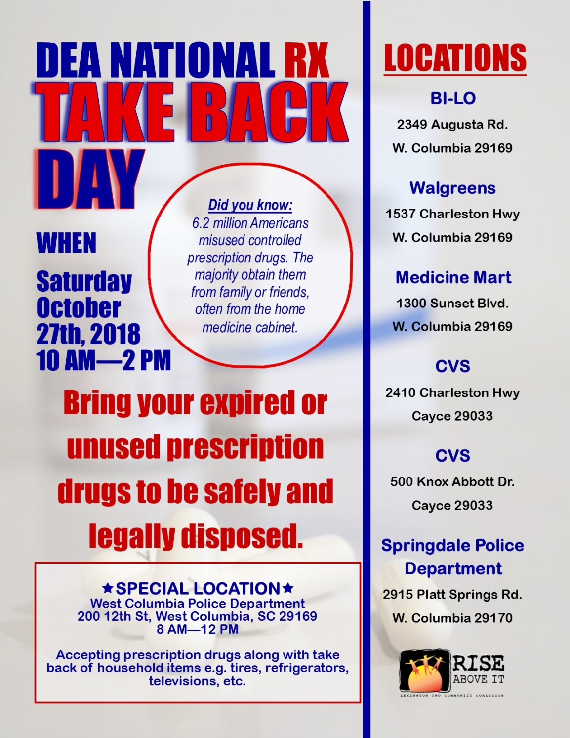 Flyer for Take Back